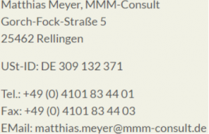 mmm-consult.de Impressum